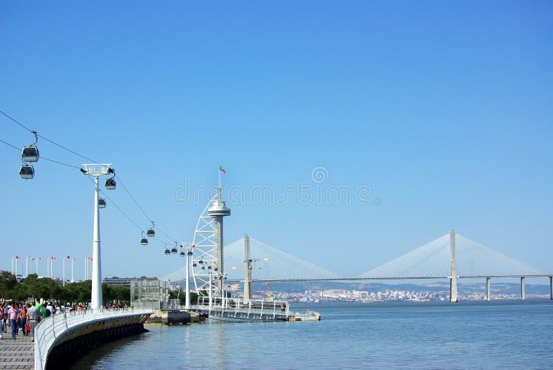 Fähreseilzug in Lissabon. lizenzfreie stockfotos