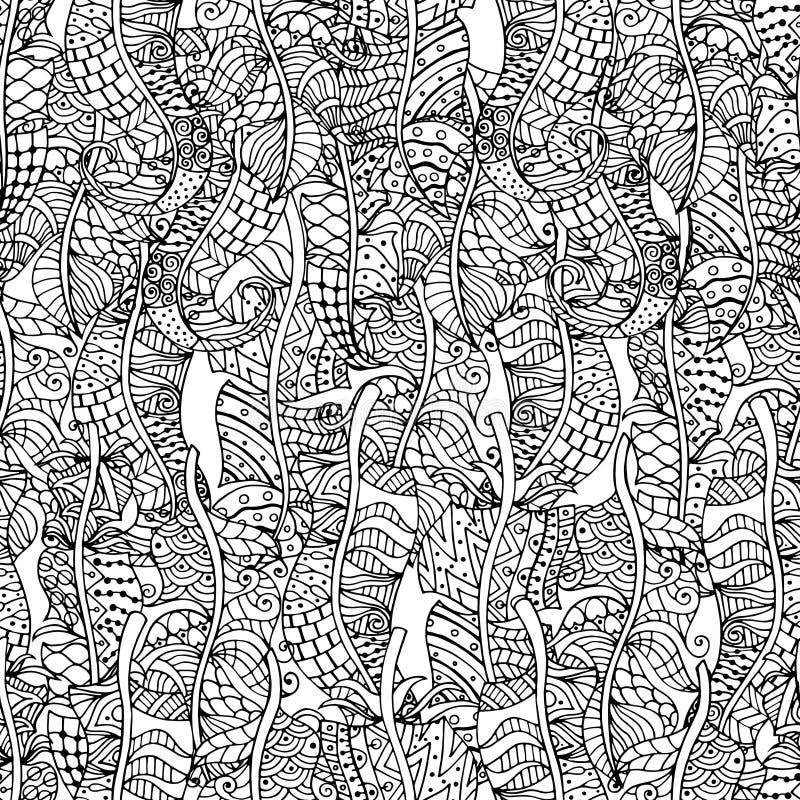 Fährt nahtloses Muster auf Segelstellung stock abbildung
