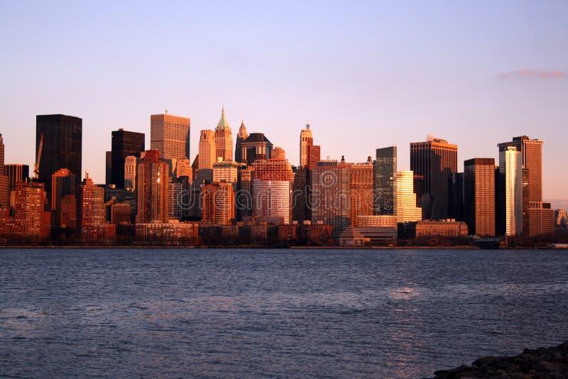 Fäll ned Manhattan horisont arkivfoton