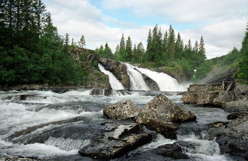Fälle in Norwegen lizenzfreies stockfoto