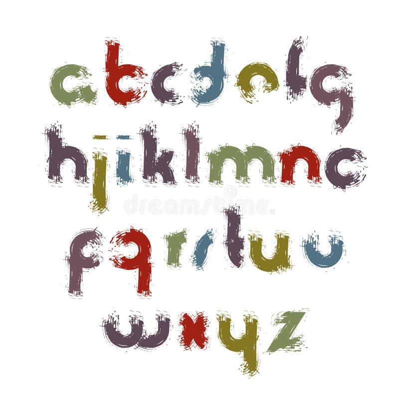 Fäller ned den ljusa ovanliga tecknad filmstilsorten för vektorn, den handskrivna vattenfärgen royaltyfri illustrationer