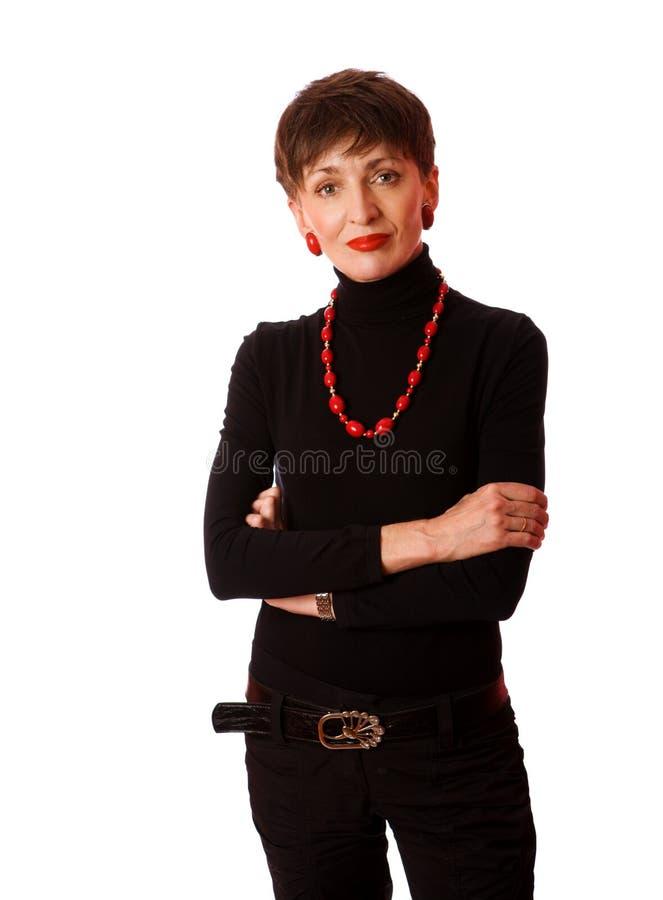 Fällige Frau stockbilder