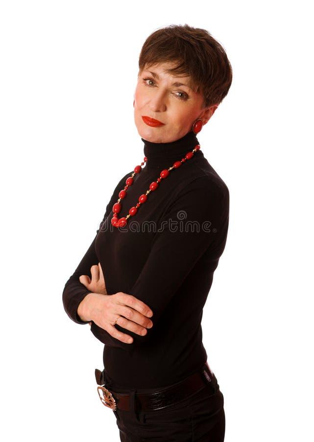 Fällige Frau lizenzfreie stockfotos