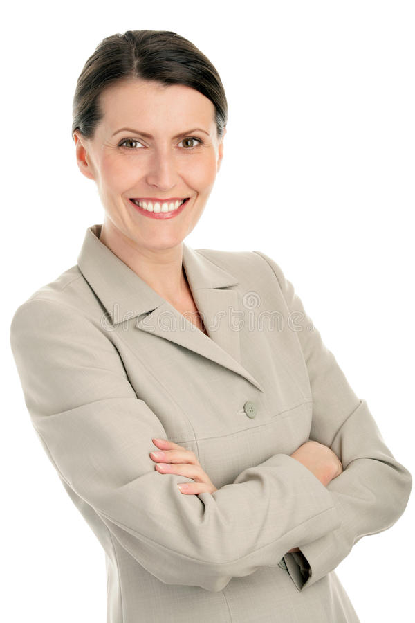 Fällige Geschäftsfrau stockbilder