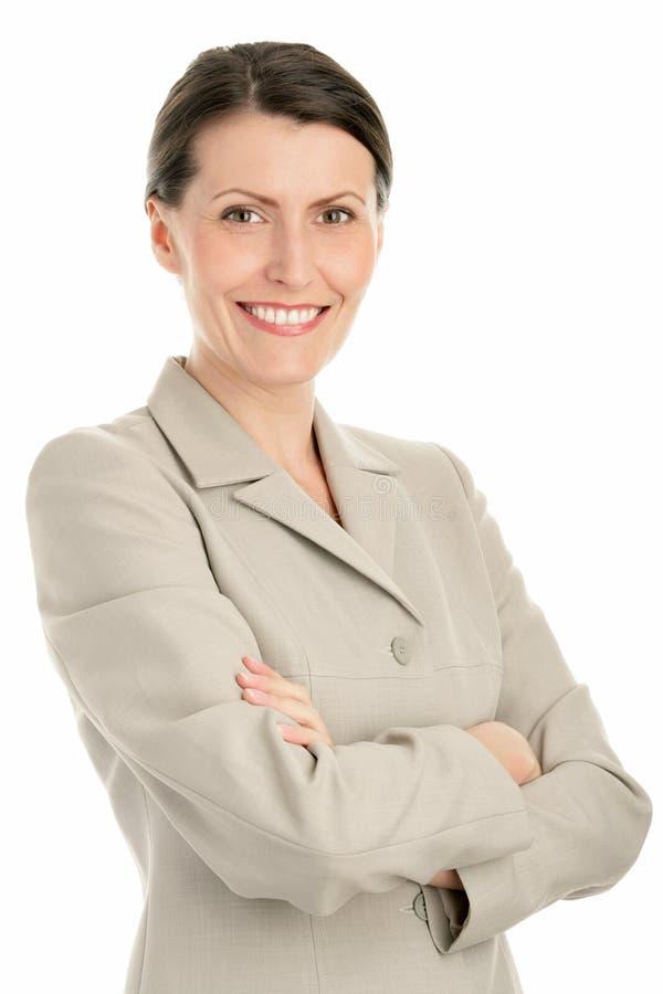 Fällige Geschäftsfrau lizenzfreie stockfotos