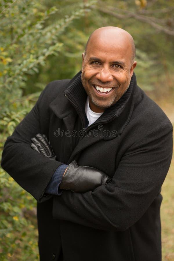 Fälliger Afroamerikanermann stockfotos