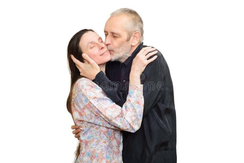 Fälliger Mann und Frau stockfoto