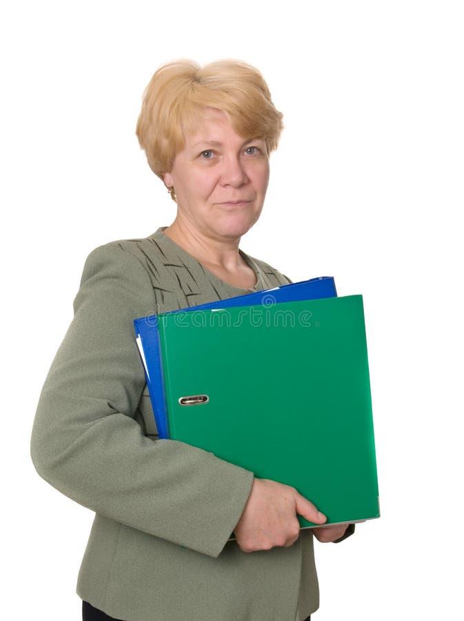 Fälliger Sekretär oder Geschäftsfrau lizenzfreie stockfotos