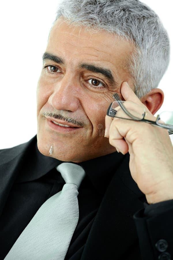 Fälliges Geschäftsmanndenken lizenzfreie stockfotos