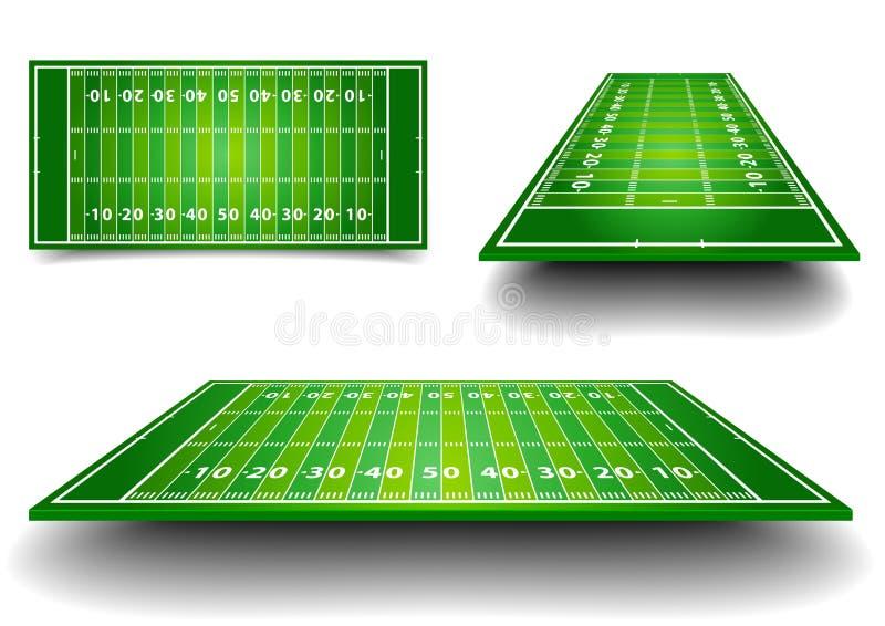 Fält för amerikansk fotboll vektor illustrationer
