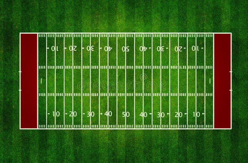 Fält för amerikansk fotboll stock illustrationer