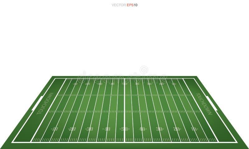 Fält för amerikansk fotboll med linjen modellområde för bakgrund stock illustrationer