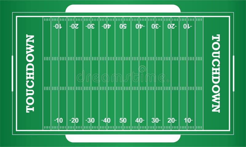 Fält för amerikansk fotboll för vektor royaltyfri illustrationer