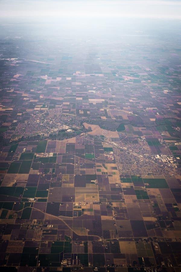 Fält från himlen royaltyfri bild