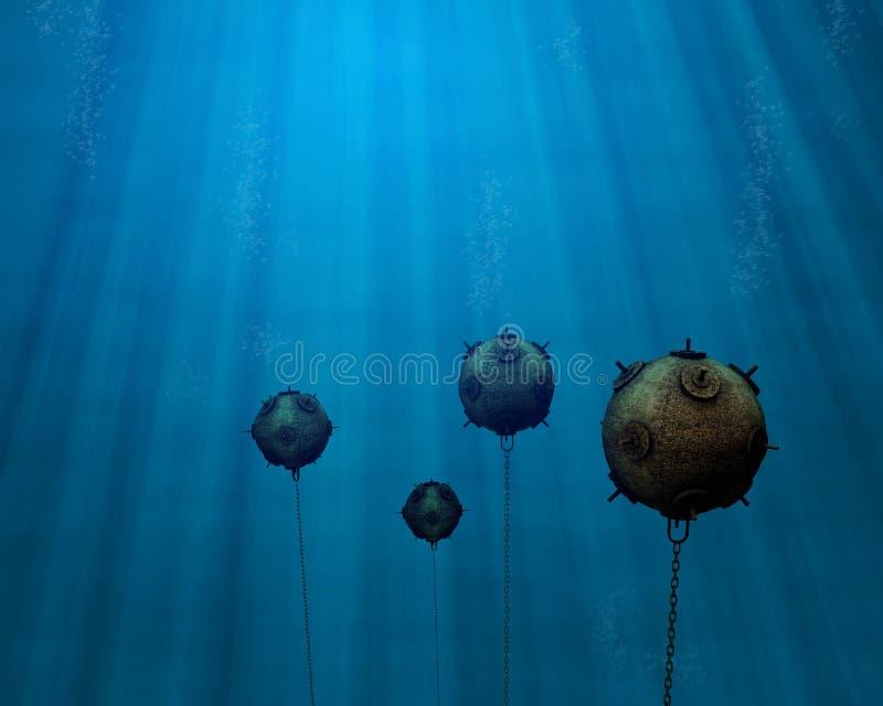 fältet bryter undervattens- vektor illustrationer