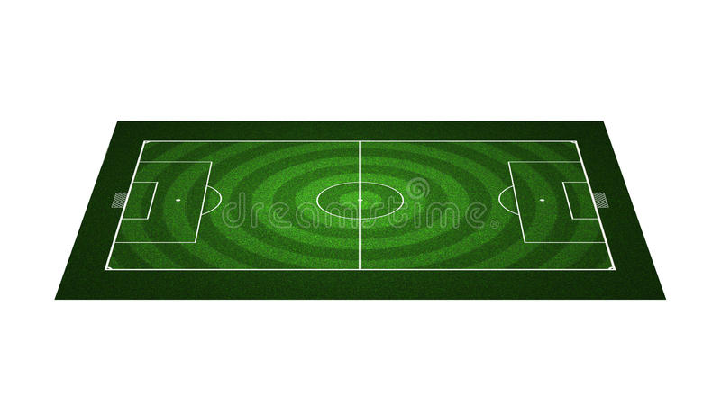fältfotbollperspektiv arkivbild