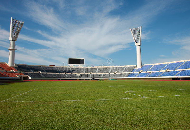 fältstadionspår arkivbild