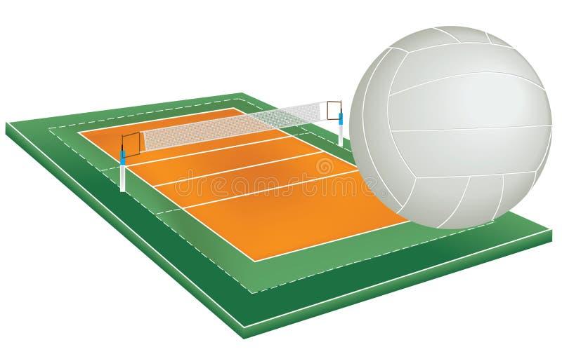 fältvolleyboll vektor illustrationer