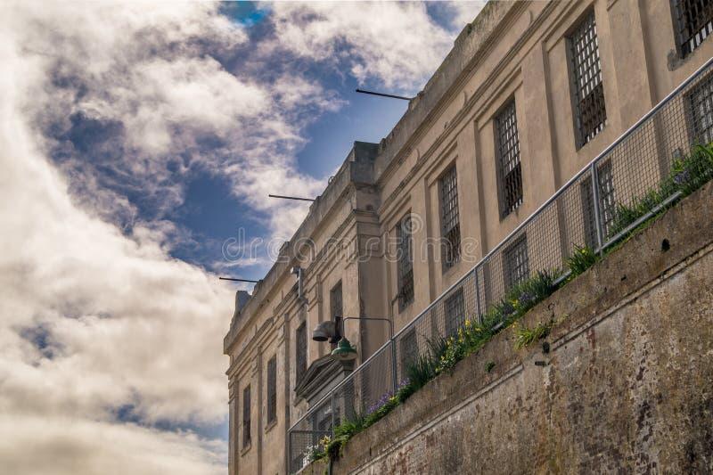 Fängelse detalj av huset för cell för Alcatraz ö arkivfoton