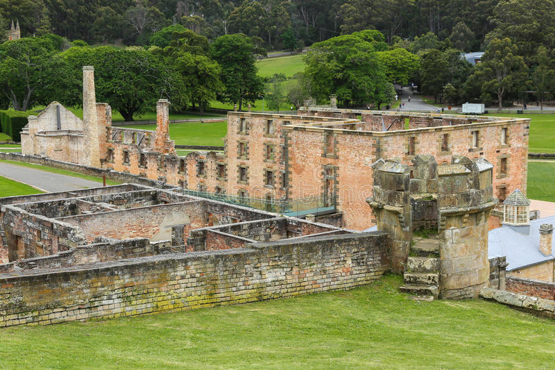 FängelsebyggnadsPort Arthur, Tasmanien, Australien royaltyfri bild