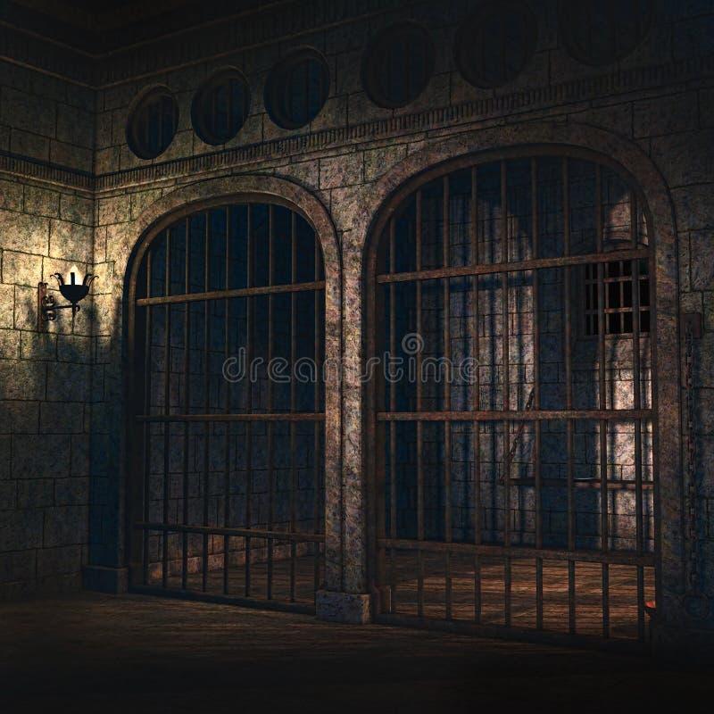 Fängelseceller royaltyfri illustrationer