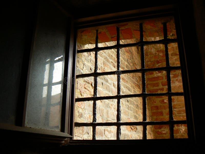 fängelsefönster arkivfoto