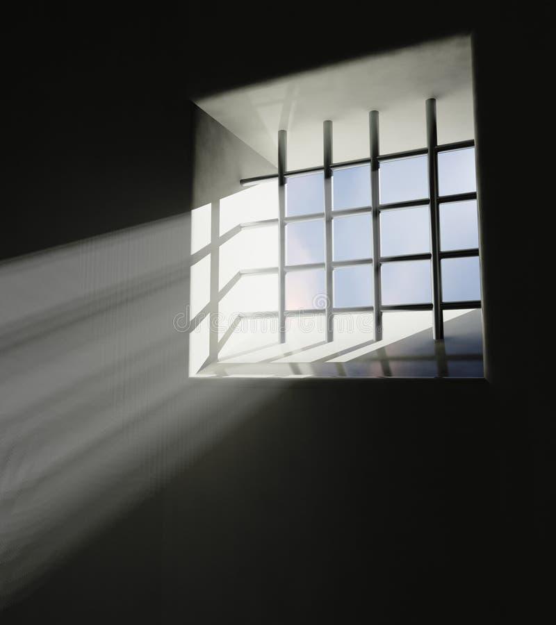 Fängelsefönster stock illustrationer