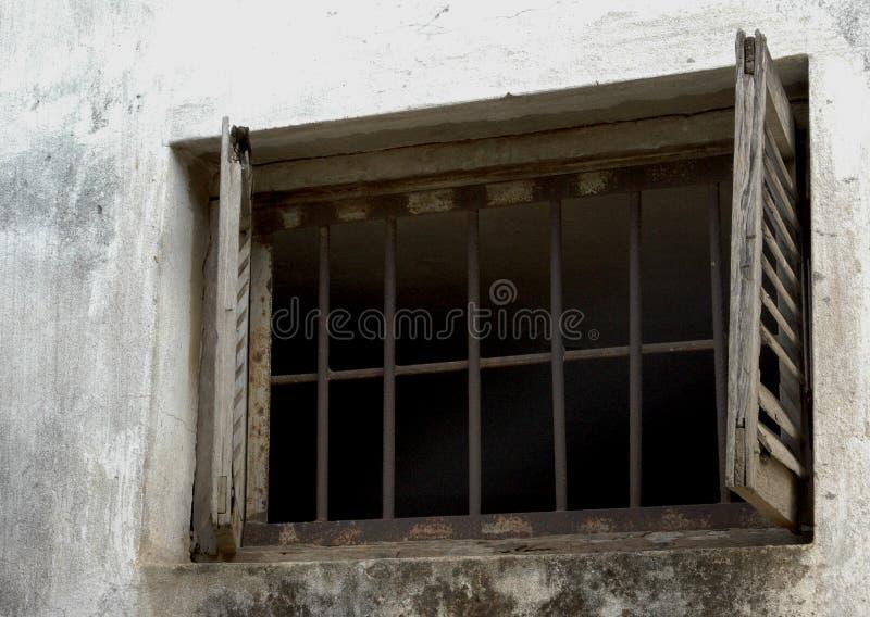 fängelsefönster royaltyfri fotografi