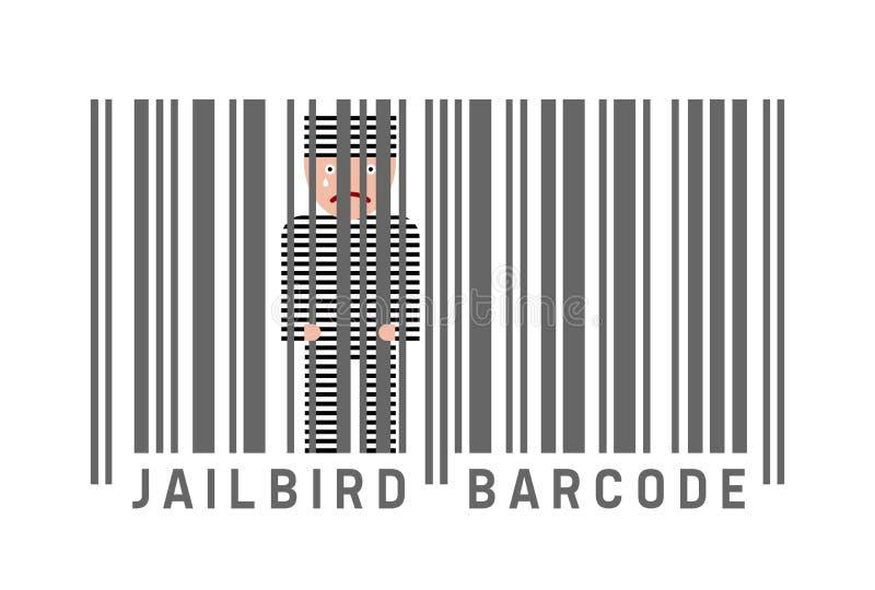 Fängelsekundbarcode royaltyfri illustrationer