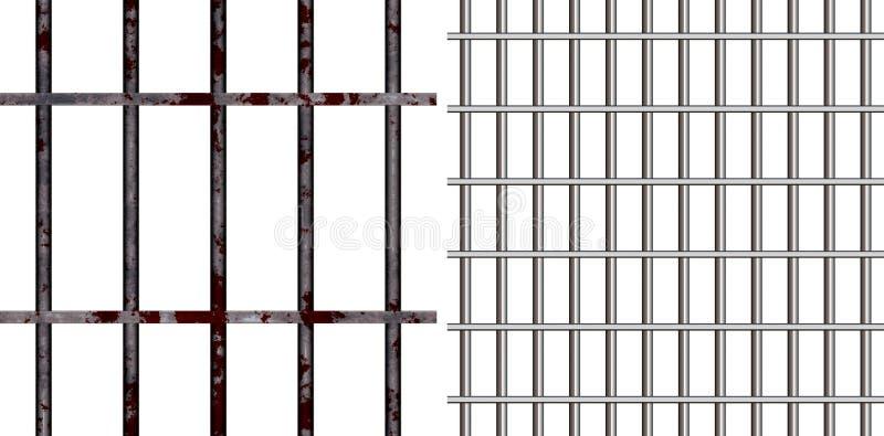 Fängelsestänger vektor illustrationer