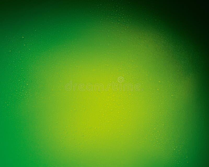 Färben Sie ändernden grünen Hintergrund mit unterschiedlicher Art von Tropfen für Plan lizenzfreie stockbilder