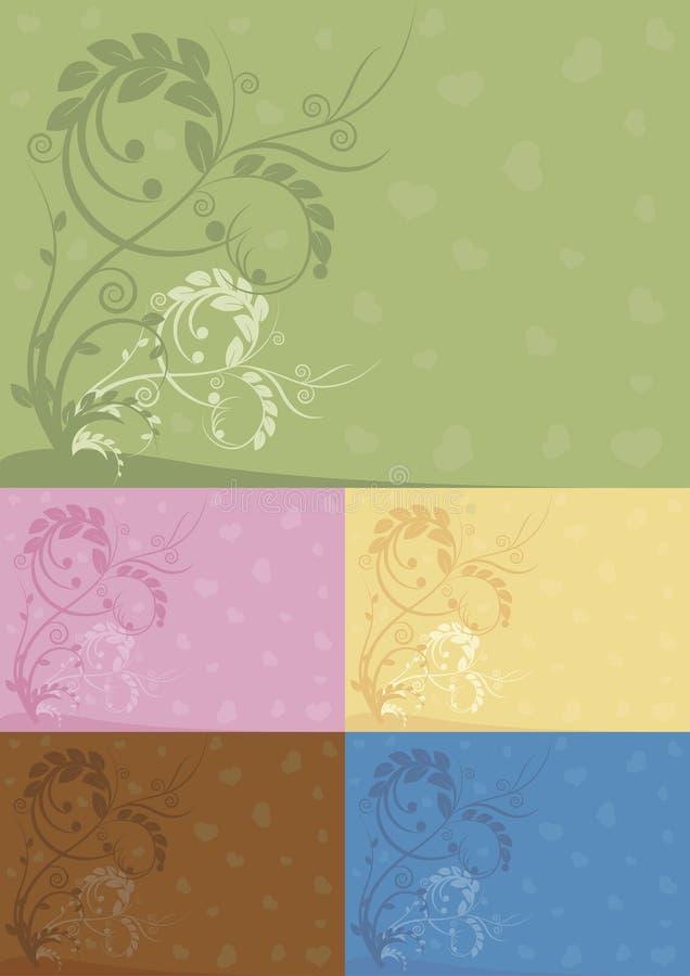 Färben Sie abstrakte Blumenhintergründe lizenzfreie stockfotografie