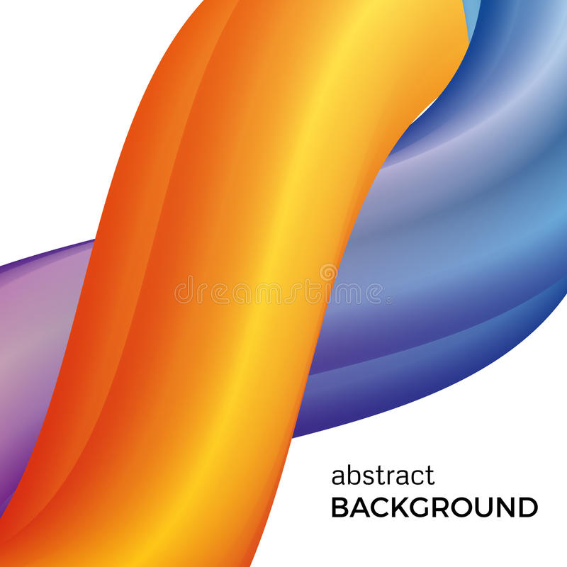 Färben Sie abstrakte Zusammensetzung der gelben und blauen Aquarellwellen vektor abbildung