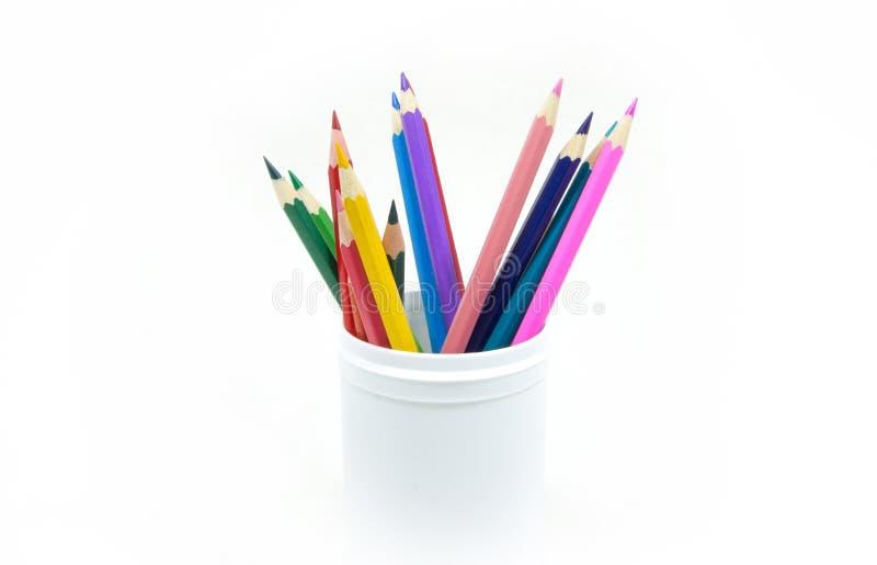 Färben Sie Bleistifte stockbilder