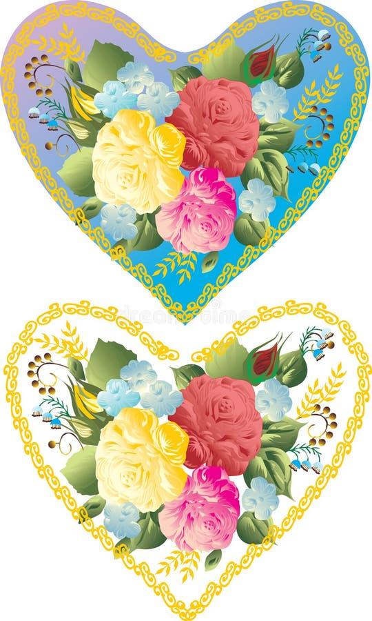 Färben Sie Blumeninnere lizenzfreie abbildung