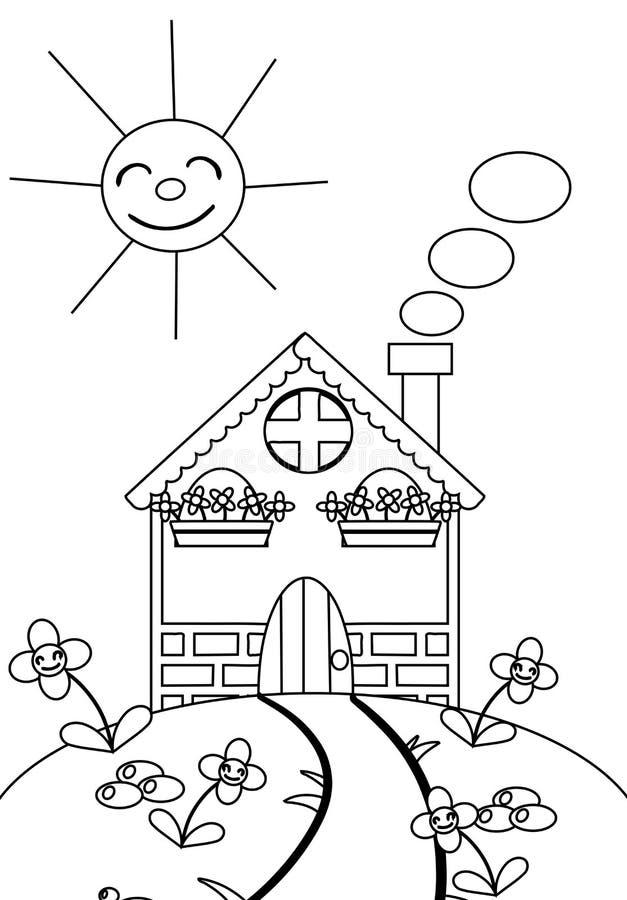 Färben Sie das Haus stock abbildung. Illustration von abbildung ...