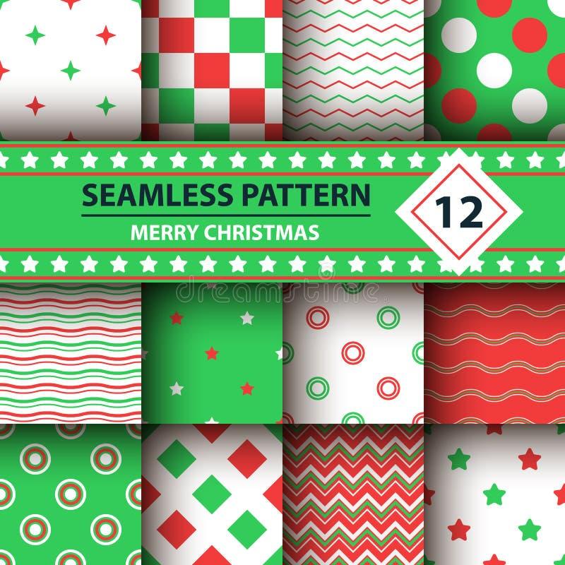 Färben Sie einfache Form, Muster der frohen Weihnachten stock abbildung