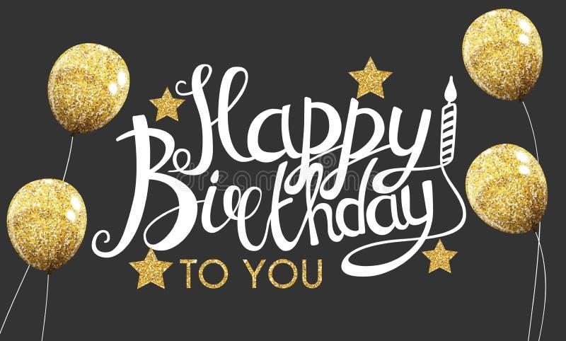 Färben Sie glatte alles- Gute zum Geburtstagballon-Fahnen-Hintergrund-Vektor-Illustration stock abbildung
