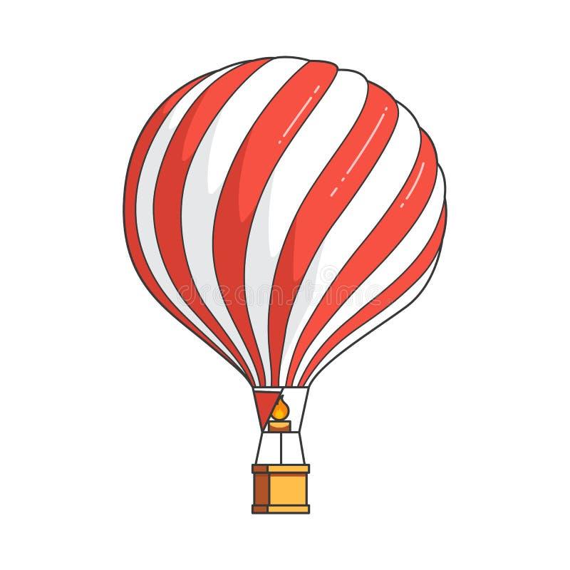 Färben Sie Heißluftballon Lokalisiert Auf Weißem Hintergrund Für ...