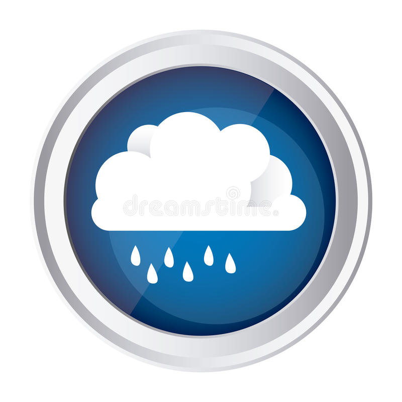 färben Sie Kreisrahmen und blauen Hintergrund mit Wolke mit Nieselregen vektor abbildung
