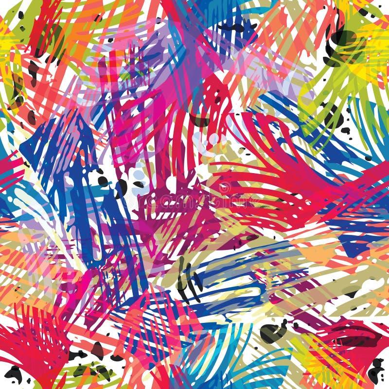 Färben Sie nahtloses Muster der Lacke. vektor abbildung