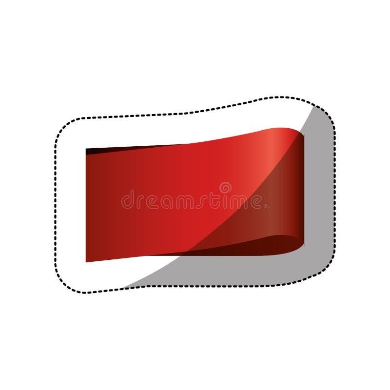 färben Sie Preisaufkleber mit mittlerem Schatten und rechteckiger Form stock abbildung