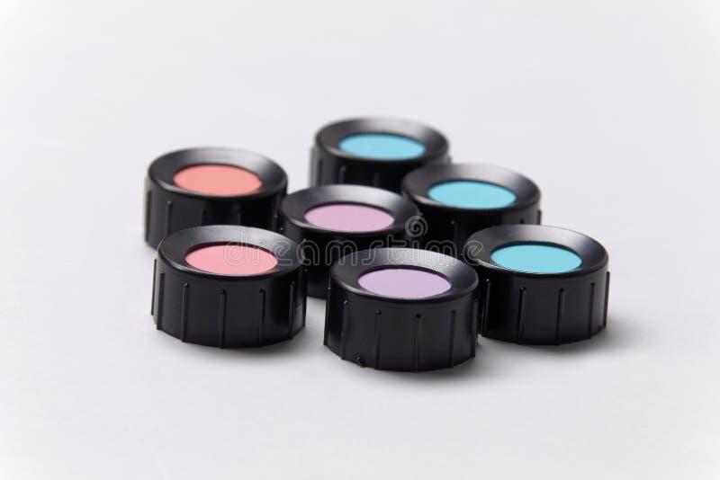 Färben Sie Schatten, Blau, Purpur, Blau, Veilchen, das Rot, cyan-blau stockbilder