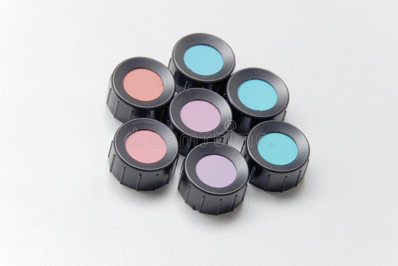 Färben Sie Schatten, Blau, Purpur, Blau, Veilchen, das Rot, cyan-blau stockbild