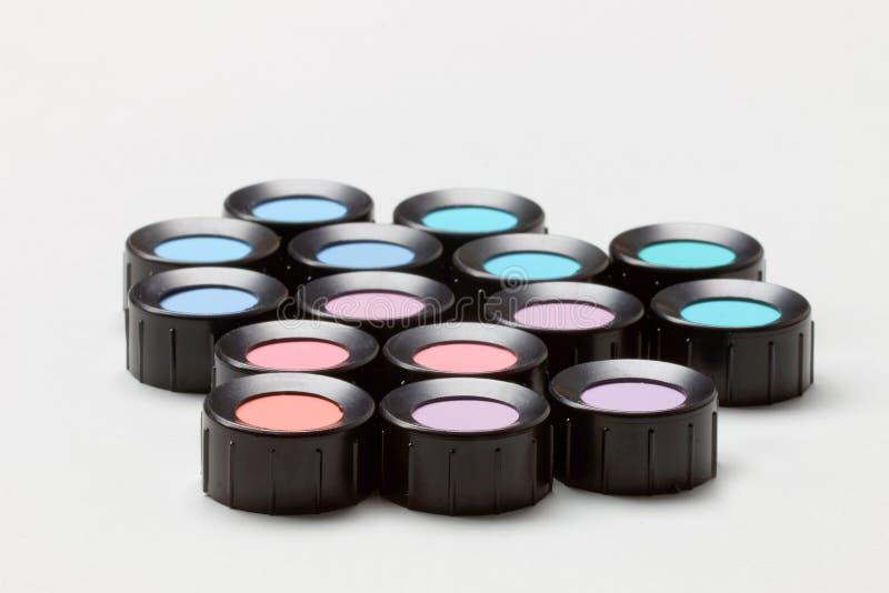 Färben Sie Schatten, Blau, Purpur, Veilchen, das Rot, cyan-blau lizenzfreie stockbilder