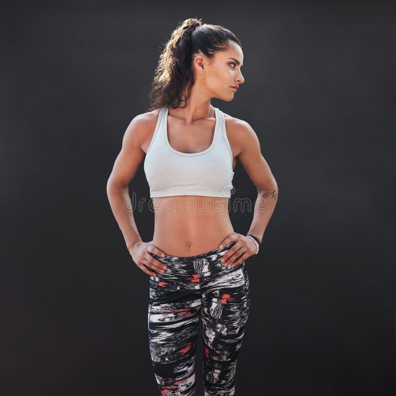 Färdig ung kvinnlig modell arkivfoton