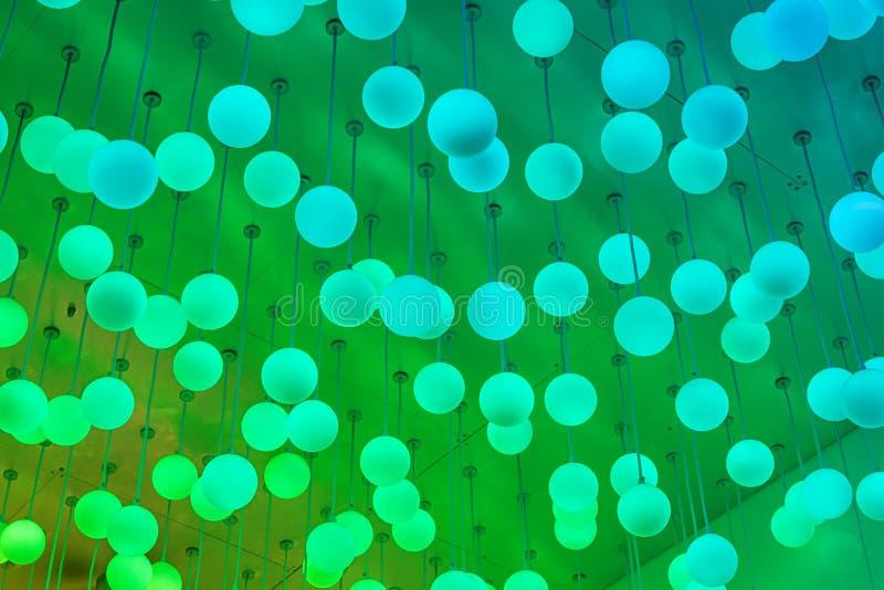Färgändring LEDDE ljus royaltyfria bilder