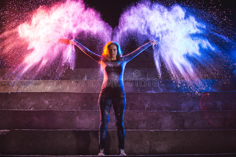 Färgängelvingar fotografering för bildbyråer