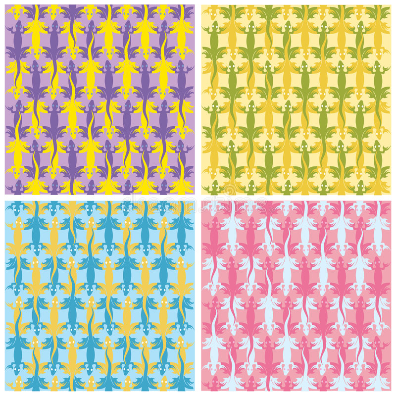 färgödlamodeller royaltyfri illustrationer