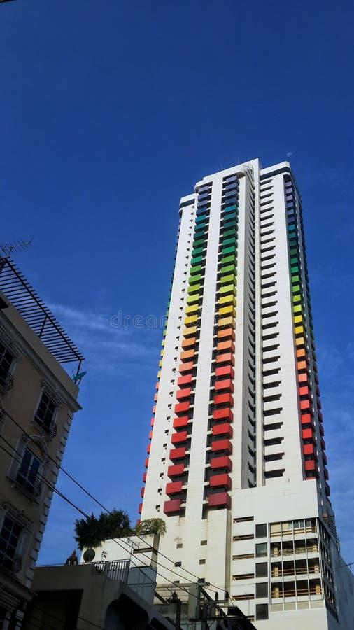 Färg av den Bankok staden i dag royaltyfri fotografi
